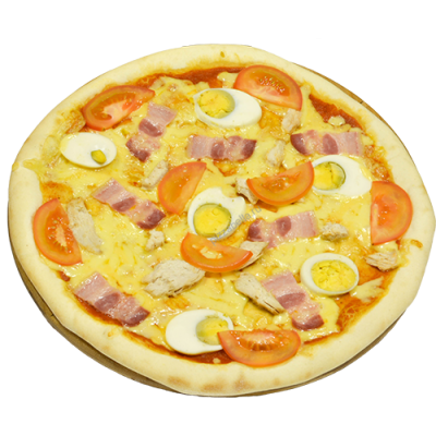 Пицца с беконом и яйцом