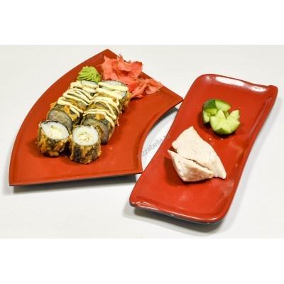 Горячий ролл с угрем, креветкой или лососем